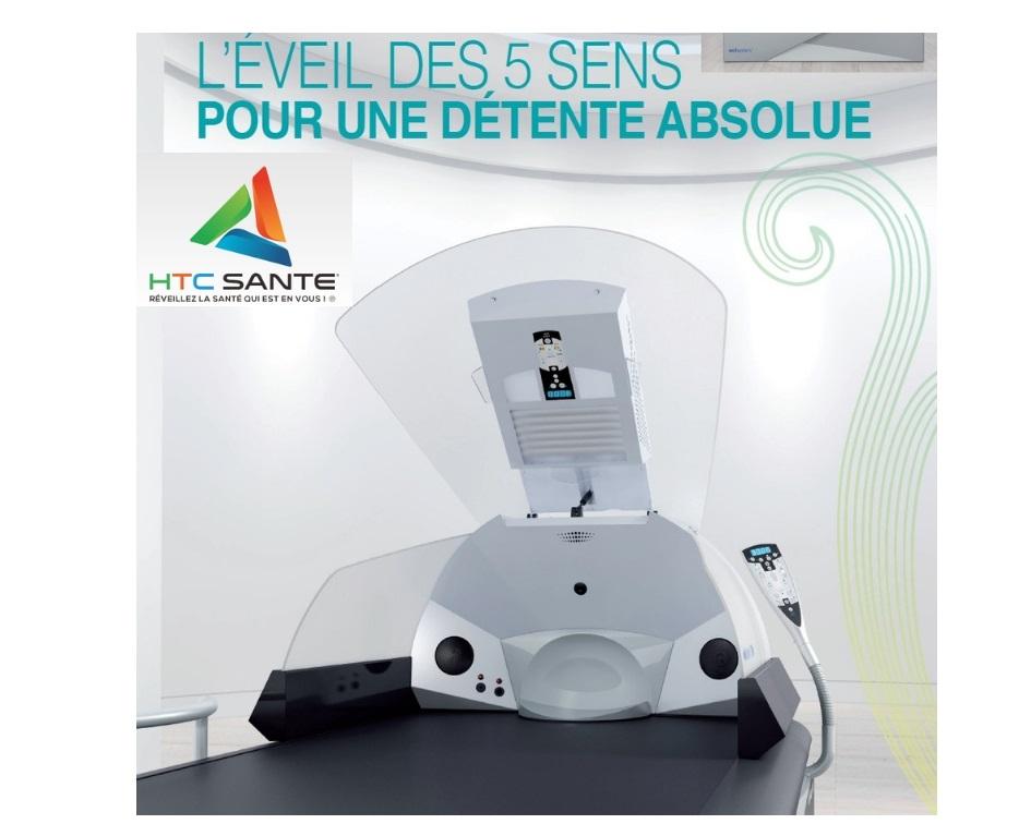 HTC Santé; relaxation; luminothérapie, aromathérapie; anti-age, collagène, ionisation, arômes, musicothérapie